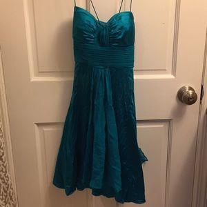 Teal Silk Cache Dress